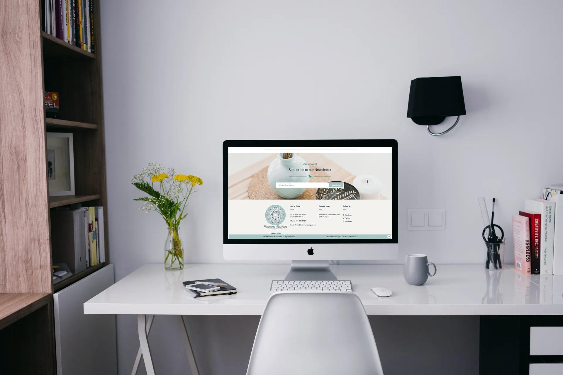 Donna Briggs, Harmony Massage customized website
